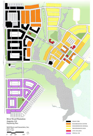 walkable, mixed-use plan